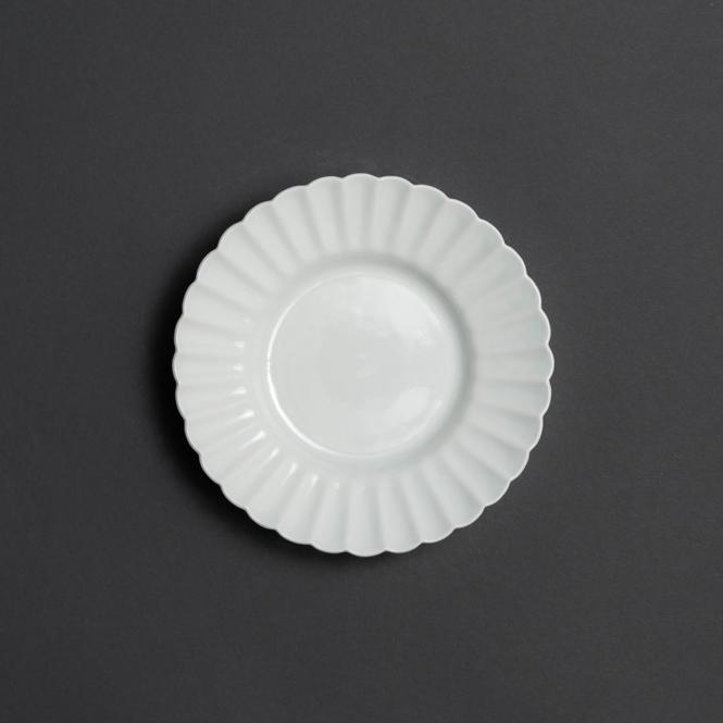 白磁輪花4.5寸皿