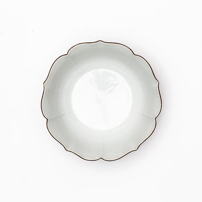 白磁口紅桔梗鉢